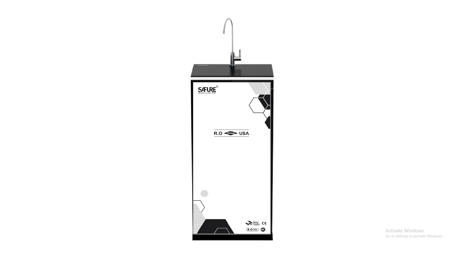 MÁY LỌC NƯỚC SAFURE THÔNG MINH   9 CẤP LỌC  VỎ TỦ 3D MODEL:IRO-SE-109 T